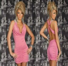 Sz S 8 10 Peach Sleeveless Open Back Cocktail Party Wear Club Prom Mini Dress