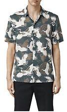All Saints Tsuru Short Sleeve Shirt Blue Medium