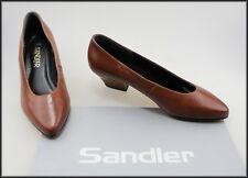 SANDLER WOMEN'S VINTAGE MID HEEL BROWN CLASSIC DRESS SHOES SIZE 7.5 B NEW