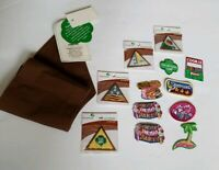 New Girl Scouts Sash Brownies Junior With Iron On Patches brownie badge Lot