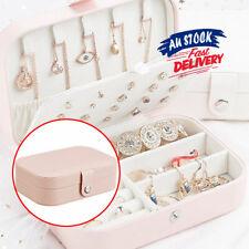 Leather Storage Portable Organizer Travel Jewelry Box Jewellery Ornaments Case