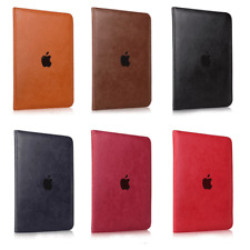 """Stand Genuine Leather Case Cover For New iPad 5 9.7"""" Air 1 2 Mini 3 4 Pro 10.5"""""""