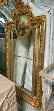 MIRROR IN RESIN FRAME WITH PAINTING - GOLD #20MB