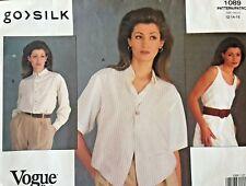 VOGUE Misses' Vest Top & Shirt Go Silk Pattern 1089 Size 12-16 UNCUT