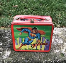 New ListingVintage 1978 Aladdin Superman Metal Lunchbox No Thermos Included