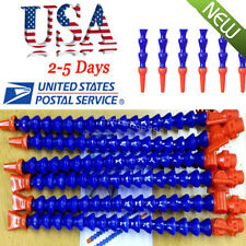 US Sale 12pcs Lathe CNC Machine Adjustable Flexible Water Oil Coolant Pipe Hose