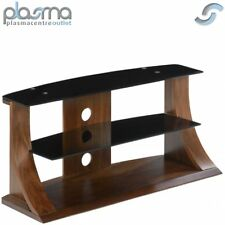 "Jual Curve - Curved Walnut and Black 50"" TV Stand"