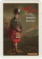 Playing Cards 1 Single Card Old Wide DEWAR'S WHISKY Advertising Kilt THE MACNAB