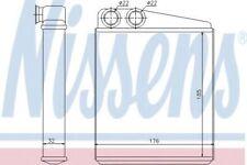 Nissens Radiator Heat Matrix interior 70228 Replaces 042013N,049007N,1390071
