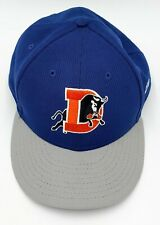 Durham Bulls Baseball Cap Hat New Era 59Fifty Fitted Mesh Navy Size 8 Excellent