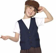 Disfraz de Niño Pobre Victoriano para Niños Campesina Kit Chaleco & Tapa Smiffys