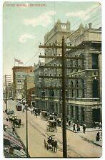 Cincinnati, OH. Old Hamilton Co. courthouse, c.1901-07. Streetcar. Horse coaches