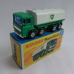 "Vintage Matchbox Lesney Superfast No32 Leyland ""BP"" Petrol Tanker VNMINT BOXED!"