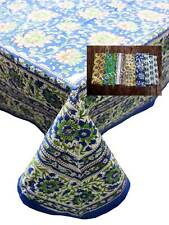 Hand Block Print Indian Tablecloth 100%cotton Floral Rectangular Cover 6 Napkins