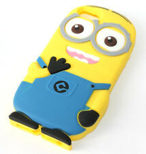 for iPhone SE 5S - CUTE YELLOW BLUE MINION Soft Silicone Rubber Skin Case Cover