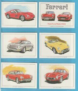cigarette/trade cards - CLASSIC FERRARI CARS 1958-1992 Mint condition full set