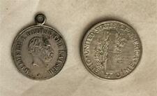 Older German Love Token On Wilhelm I Small Medal Ex Col Jack Novak Estate