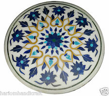 2'x2' Marble Center Coffee Table Top Lapis Mosaic Floral Hallway Arts Decor H928
