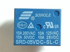 5x 5V Relais SRD-5VDC-SL-C | 250VAC 10A; 30VDC 10A | Leistungsrelais | 5 Stück