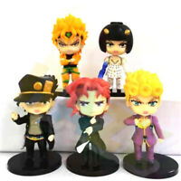 5pcs JoJo's Bizarre Adventure Kujo Jotaro Stardust Crusaders Dio Figure Dolls
