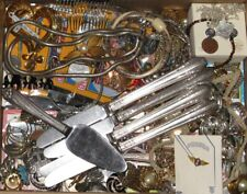 New ListingJunk Drawer Lot - Vintage Trinkets Coins Jewelry Trading Cards etc A3