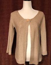 Women Medium Tan Cardigan Crochet By Venue