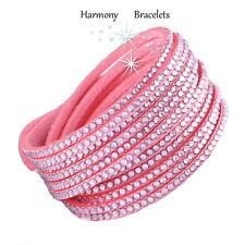 Baby Pink Swarovski Elements Wrap Bling Bracelet by Harmony Bracelets