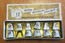 Vintage Mini Porcelain Ceramic Bell Christmas Ornaments Lot Of 11 Assorted