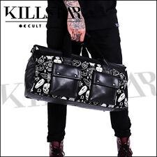KillStar Wicked Duffel Travel Alt Goth Bag Coffin Skull Tattoo Flash Dark  Nappy 61b6656da5394