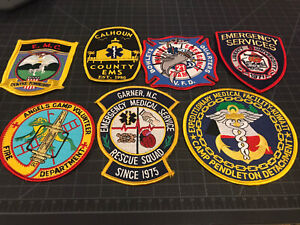 Lot Of 7 Emergency Medical Service (EMS) And Rescue Patches