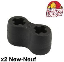 Lego technic - 2x Connector caoutchouc Flexible Rubber noir/black 45590 NEUF