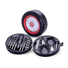 Conjunto de herramientas de coche VW oficial en caja de herramientas en forma de rueda