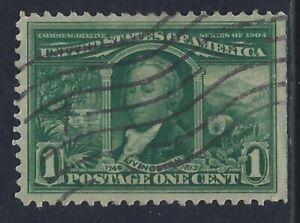 United States, Scott #323, 1c Louisiana Purchase Exposition, Used