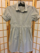 """ELWOOD"" LADIES SIZE ""XS"" FINE PIN STRIPE DRESS - BLUE"