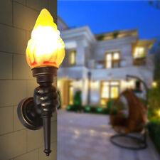 New Modern Vintage Retro Torch Lamp Loft Iron Industrial Rustic Sconce WallLight