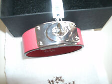 Coach ladies red leather buckle bracelet