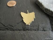 TASMANIEN Landkarte Anhänger in 333er Gelbgold, Tasmania, Tassie, NEU