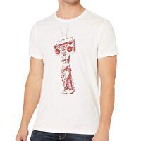John Varvatos Star USA Men's Short Sleeve Boom Box Statue Graphic T-Shirt Salt