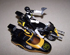 POWER RANGERS BLACK 5in ACTION FIGURE MOTORCYCLE BANDAI WITHOUT/PKG 1993 5&UP