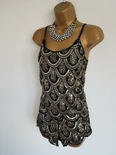 Parisian collection super sexy embellished sequin co-ord set 2 piece shorts S/M