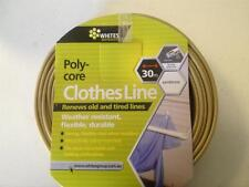 CLOTHESLINE PVC WITH POLY CORE WIRE 30m SANDSTONE BEIGE REPLACEMENT CLOTHESLINE