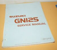 Suzuki GN125 Motorcycle Factory Service Shop Manual Repair Book 99500-31005-03E