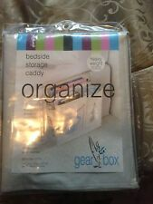 NEW Bedside Caddy for glasses, Books, tissue, remote etc--Organize the Clutter!