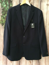 NWT APT9 Mens Sz 44 Regular Navy Quilted Knit Blazer Suit Slim Fit Stretch