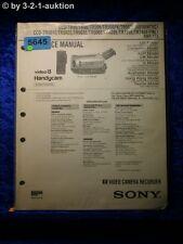 Sony service manual CCD tr620e tr502e tr501e tr740e tr720e tr502e tr503e (#5645)