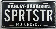 HARLEY DAVIDSON METAL LICENSE PLATE SPORTSTER MOTORCYCLE SIGN SPRTSTR NEW L045
