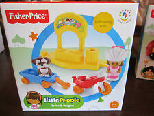 Fisher Price Little People New Trike Wagon Bike Dog Ice Cream Stand Girl Mia toy
