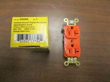 Hubbell Isolated Grounded Duplex Receptacle IG5362 20A 125V 3W New Surplus