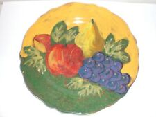 ARTE ITALICA SERVING PLATTER/DINNER PLATE W/FRUIT DESIG