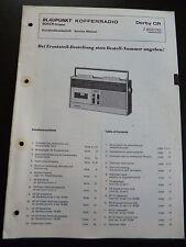Original Service Manual Blaupunkt Kofferradio Derby  CR